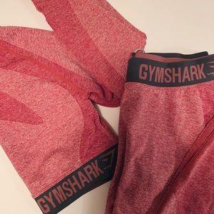 gymshark long sleeve crop top & leggings
